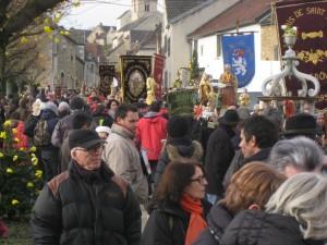 Cortège de la Saint Vincent de Saint Aubin