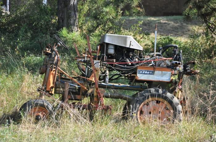 Tracteur à l'âge de la retraite
